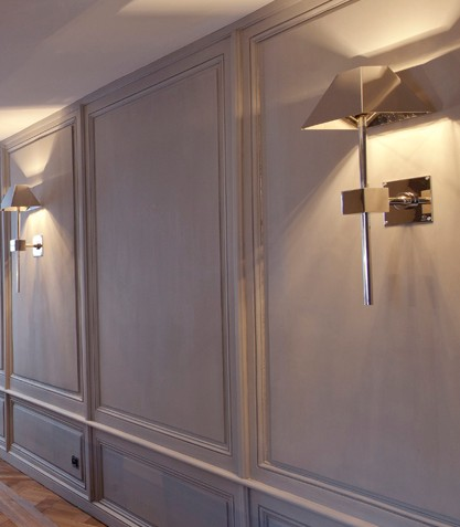 pareti in boiserie hotel