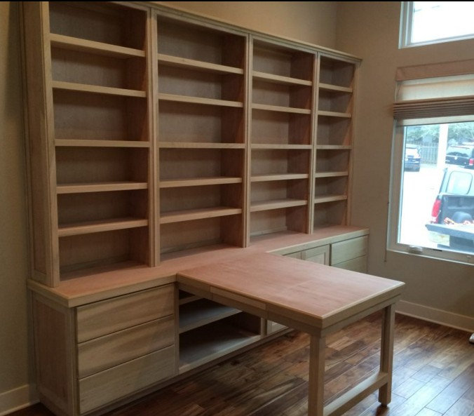 Librerie su misura in legno for Scrivania con libreria ikea