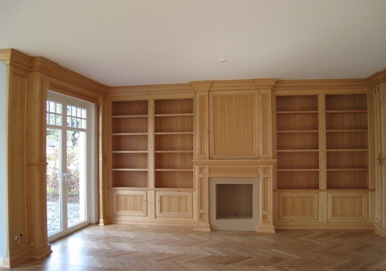 boiserie libreria in legno