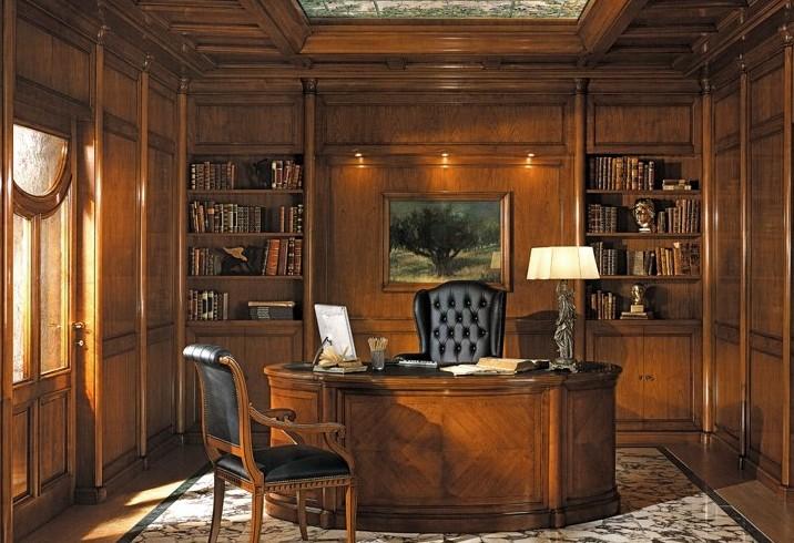 Librerie classiche su misura per studio