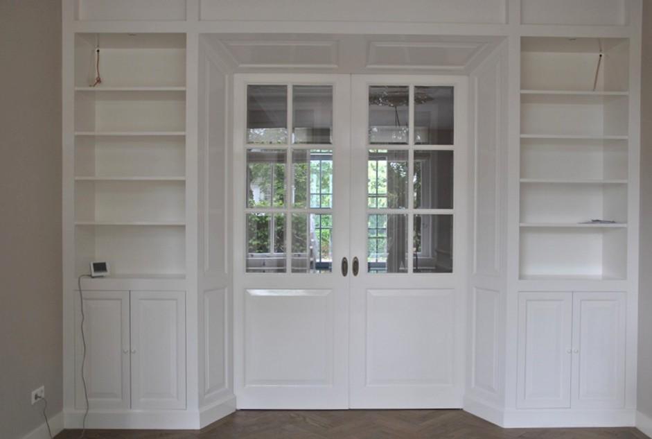 Libreria in legno bianco tavolo consolle allungabile for Vendita on line librerie