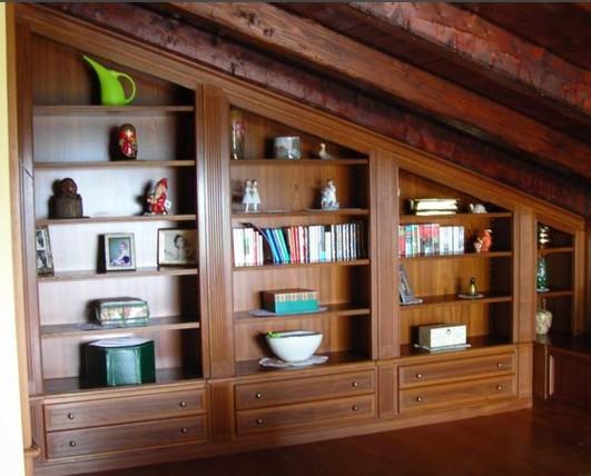 Librerie su misura per mansarde Roma progettate per trovare la ...
