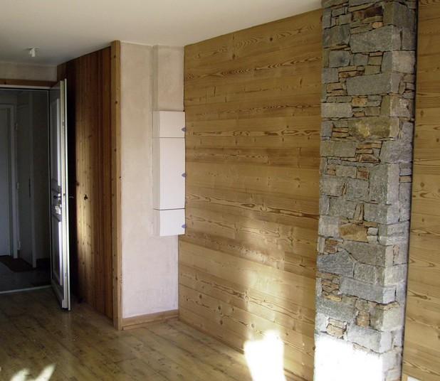 Pareti divisorie in legno casa montagna