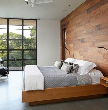 Rivestimenti in legno per interni - Rivestimento parete camera da letto ...