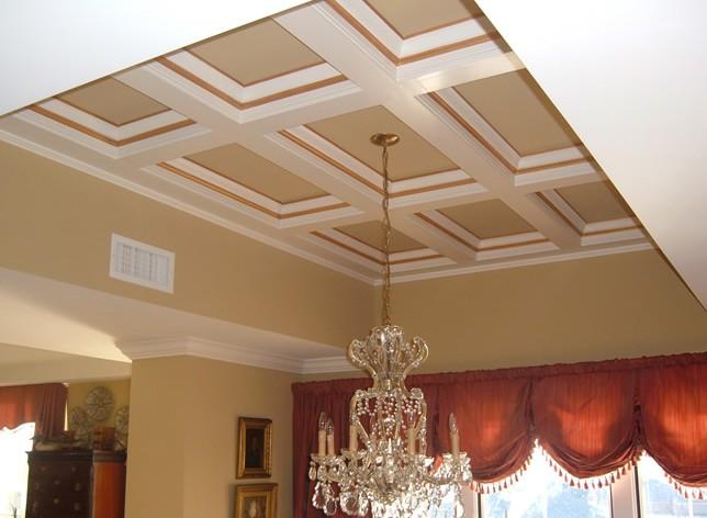 Soffitti a cassettoni decorati. soffitto a cassettoni decorato