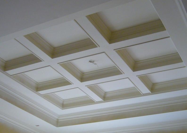 soffitti a cassettoni legno bianco
