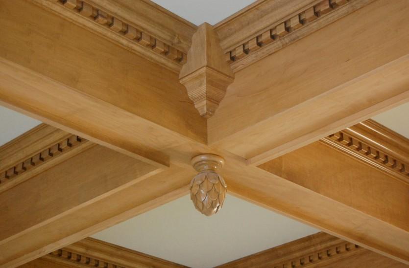Soffitti a cassettoni in legno roma