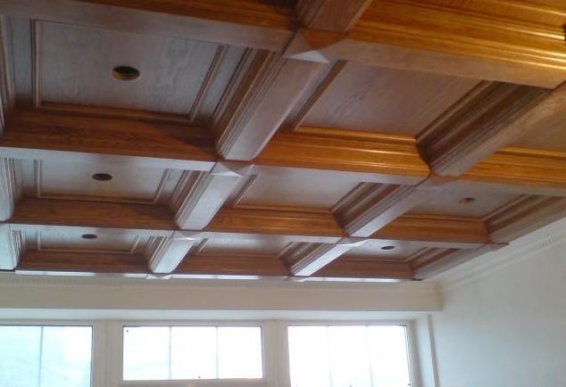 falegnameria soffitti classici in legno