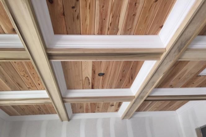 soffitti a cassettoni legno bicolore