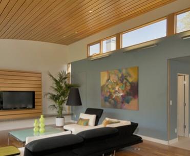 Soffitti In Legno Moderni : Pavimenti bagno in legno stanza da bagno contemporanea
