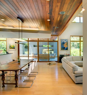 Soffitti in legno moderni for Case moderne interni in legno