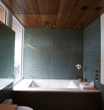 Soffitti in legno per bagno
