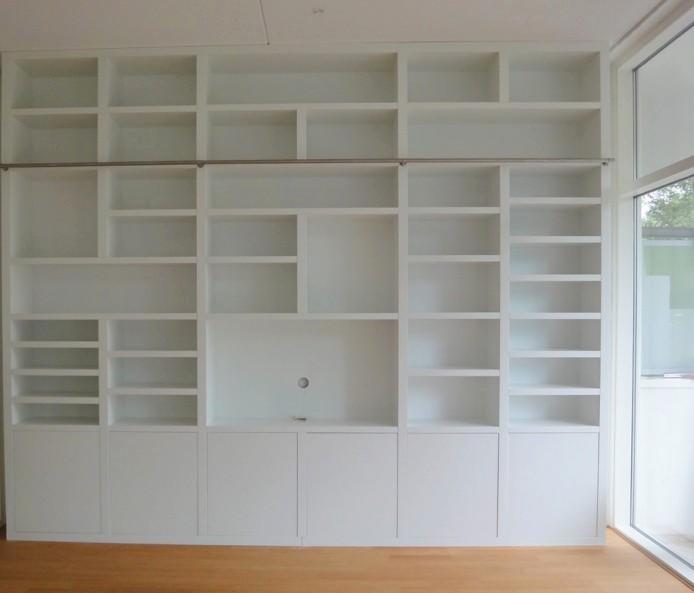 biblioteche bianche in legno Roma